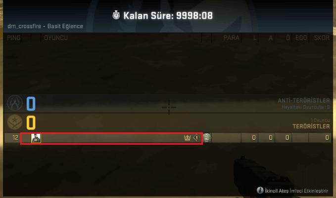 CS GO Görünmez İsim