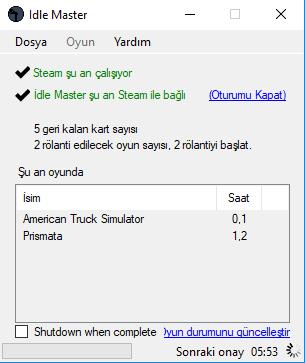 Steam Otomatik Kart Düşürme Programı