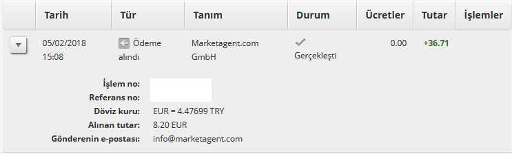 Market Agent Ödeme 3
