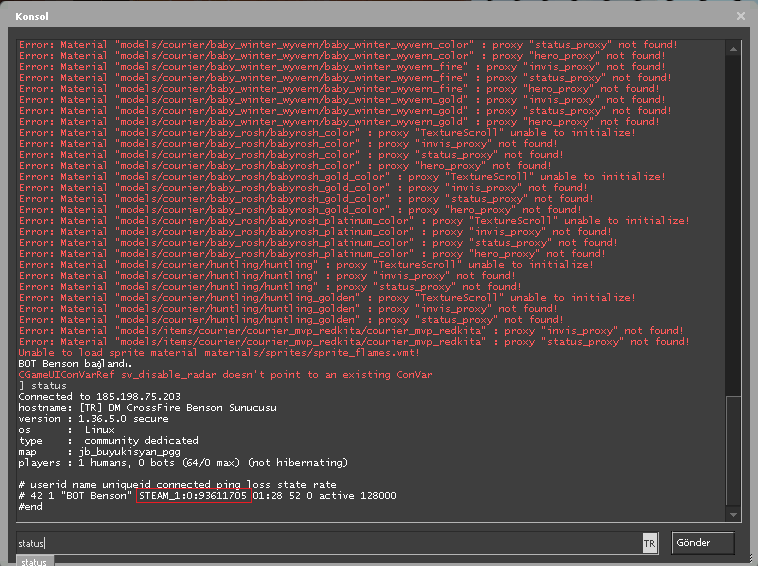Steam ID bulma